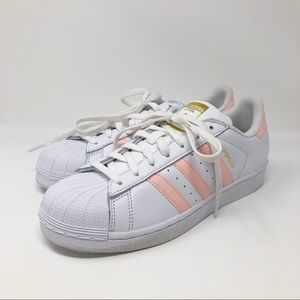 ADIDAS PINK SUPERSTAR SNEAKERS - WMNS 9.5